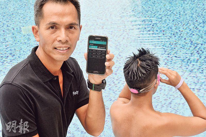 Platysens Limited創辦人兼行政總裁黃昌銳(圖)本身就熱愛游泳,但市面上的輔助儀器均未能滿足他的要求,因而萌生了研發「游泳監察儀」Marlin的概念。