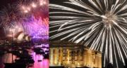 踏入2017年,世界各地以煙花匯演慶祝,包括澳洲(左圖)和雅典(右圖)。(法新社)