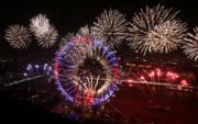 【世界齊歡 煙花喜迎2017】英國倫敦(法新社)