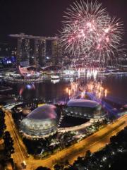 【世界齊歡 煙花喜迎2017】新加坡(法新社)