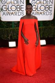 Lupita Nyongo in Ralph Lauren Collection, 2014.