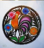 Grace Bazylewski剪紙作品《花叢中的鴿子》(文子洋攝)