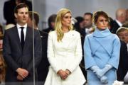 左起:庫什納、伊萬卡、梅拉尼婭(法新社)