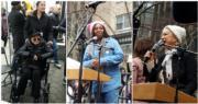 【紐約婦女大遊行】小野洋子坐輪椅到場 「英女皇」發言