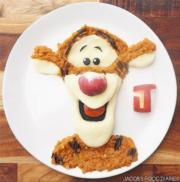 由小扁豆、薯蓉及櫻桃蘿蔔組成的「跳跳虎」(jacobs_food_diaries Instagram圖片)