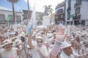 西班牙加那利群島的拉帕爾馬(La Palma)的「Los Indianos」狂歡節(法新社)