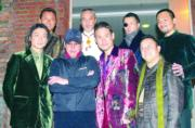 劉德華、 譚詠麟、 張學友、 曾志偉、 林家棟、徐小強合演電影《江湖》。
