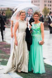 英國威塞克斯伯爵夫人蘇菲(Sophie, Countess of Wessex,左)與挪威公主Princess Martha Louise(右) (法新社)