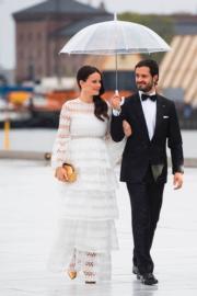 瑞典王子Prince Carl Philip與懷孕的妻子Princess Sofia(法新社)