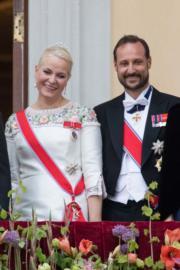 挪威王儲哈康(Crown Prince Haakon)伉儷(法新社)