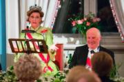 挪威國王哈拉爾五世(Harald V,右)與王后索尼婭(Sonja)(法新社)