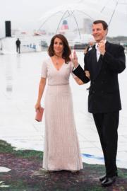 丹麥二王子Prince Joachim與太太Princess Marie(法新社)
