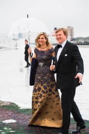 荷蘭國王威廉阿歷山大(King Willem-Alexander,右)與王后馬克西瑪(Queen Maxima)(法新社)