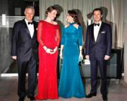 比利時國王菲利普伉儷(左)與丹麥王儲伉儷(右)(法新社)