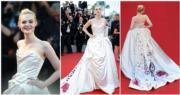 《奇幻逆緣》童星出身的艾莉芬寧穿著Vivienne Westwood出席開幕禮。