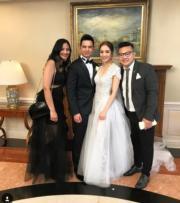 選擇在美國舉行婚禮因為一對新人的朋友也在美國。