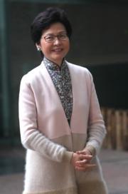 林鄭月娥(2017年資料圖片)