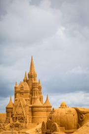 城堡與南瓜車(法新社)