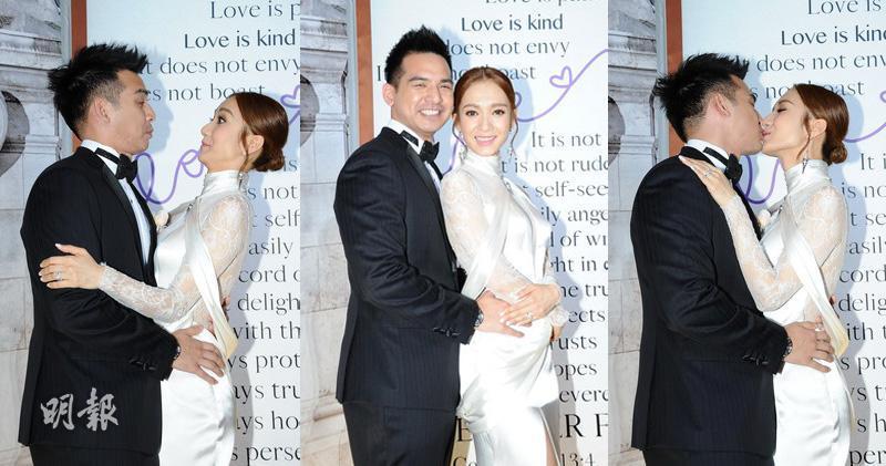 【圖輯】群星拱照王君馨香港婚禮 一對新人吻不停
