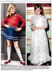 戴安娜童年照片(《Daily Mail》網站截圖)