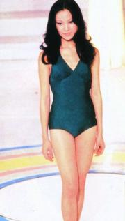 1978年港姐冠軍陳文玉,泳裝款式跟上屆也沒大分別。(資料圖片)