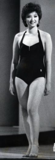 撼贏鍾楚紅的就是她!1979年港姐季軍鍾慧冰。(資料圖片)