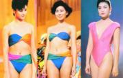 1987年亞軍李美鳳(中)、季軍林穎嫻(左)與最受歡迎佳麗獎得主張鳳妮(右)。