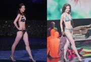 2011年港姐冠軍朱晨麗在選美台上表現自信。(資料圖片)