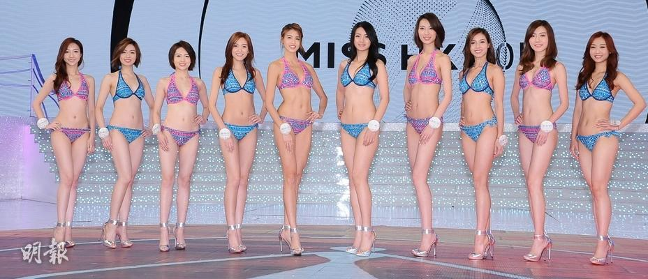 【圖輯】港姐決賽前夕 10位佳麗泳裝鬥一番