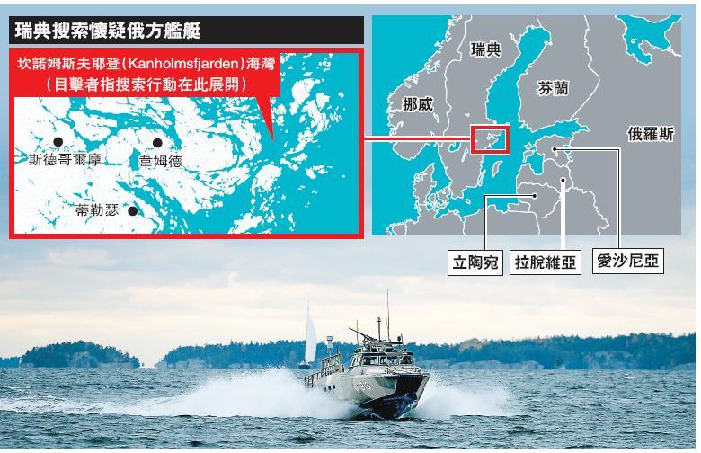 瑞典海底諜影勾冷戰回憶 海空查不明航行物 疑俄潛艇