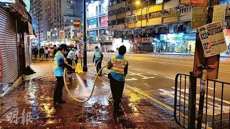 工人水槍洗街無面罩 承辦商違約 食環發失責通知書 勞工組織:不痛不癢