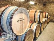 更新了的酒窖,印象深刻的是疏落的勃艮第228公升橡木桶,是產量低的緣故。