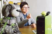 Cherish Stone Company Limited創辦人林潔惠觀察到,雖然狗很喜歡執波,但市場上卻一直未有專供牠們玩耍用的自動發球裝置,故用了幾近兩年來研發Dot Pet Launcher(右)。(劉焌陶攝)