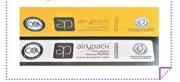 製造AiryPack紙盒涉及的碳排放比實心紙盒減少20%至30%,分別獲得香港的「環保促進會」授予Green Label(右),以及獲得瑞士的非政府組織Climatop授予CO2 Label(左)。