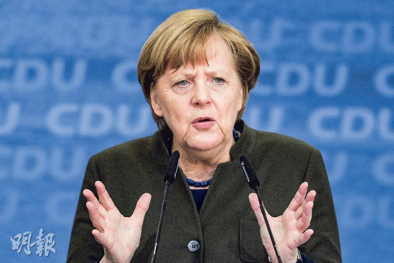 分析認為德國經濟上升趨勢反覆延續,失業率降至5.8%,是德國27年前統一以來最低水平。圖為德國總理默克爾。(資料圖片)