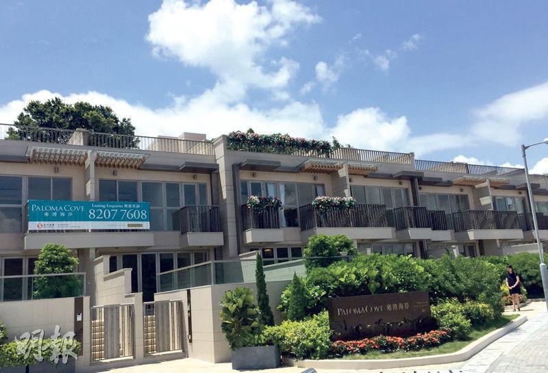 雍澄海岸已開始招租,項目提供10間洋房,實用由1319方呎至1476方呎,採3房及4房間隔,大廳可享海景。(方可兒攝)