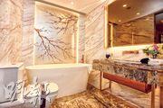 主人套房浴室設有浴缸,另一邊設企缸,並有窗戶通風。