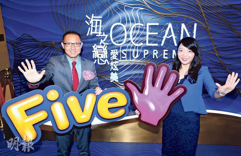 長實地產投資董事郭子威(左)稱,新盤競爭難以避免,又指愛炫美第五座共提供454伙,實用由503至1162方呎,第五座首張價單料將加價2%至5%。