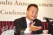 持有國泰股票的建滔化工主席張國榮(圖)表示,有信心國泰股價於2020年翻倍。(李紹昌攝)