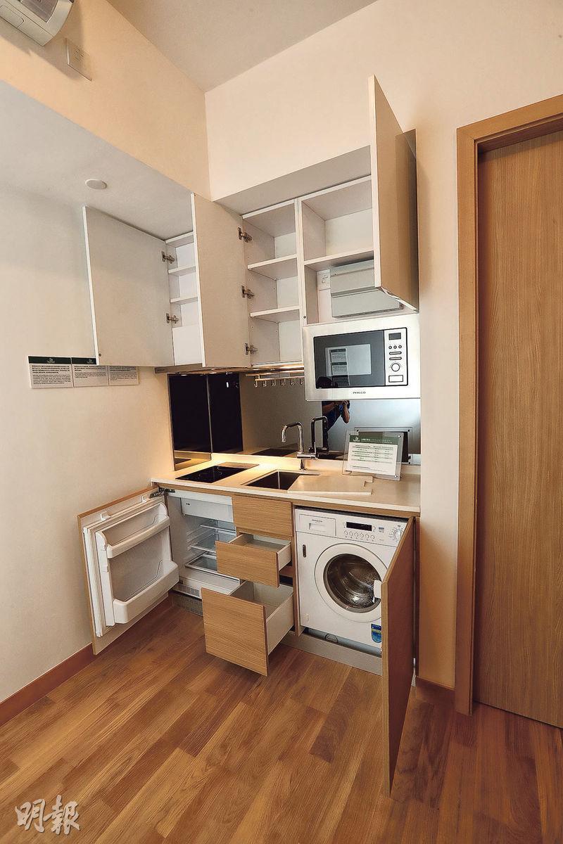交樓標準示範單位——項目單位均採開放式廚房設計,內設嵌入式家電。