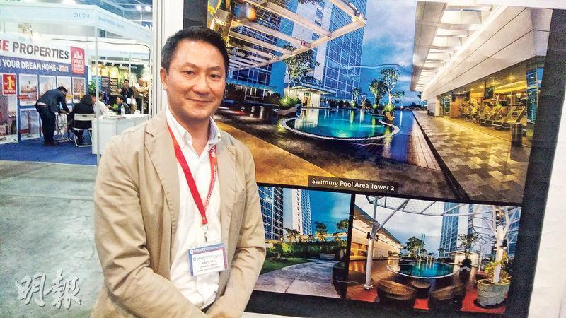 銀星物業投資有限公司銷售總監尤子康指出,印尼是擁有逾2億人口國家,加上首都四大基建料可帶動出口及內需,促進經濟穩定增長,當地樓市未來增長潛力可觀。(葉創成攝)