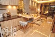 1翼8樓A06室:1房示範單位採開放式廚房設計,客飯廳方正實用。(攝影 劉焌陶)