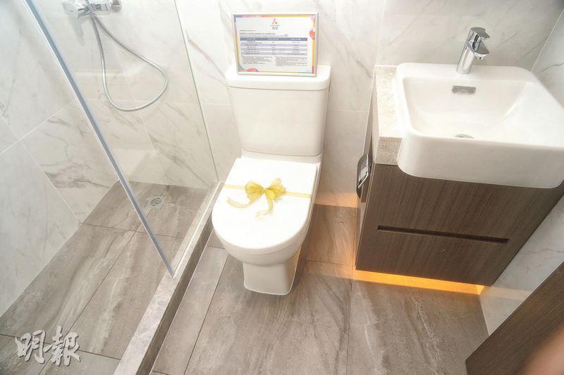 浴室採簡約設計,且備有儲物空間。(攝影 劉焌陶)
