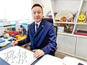 Q房網香港董事總經理陳坤興認為,現時樓價已處極高水平,預測明年樓價雖然難下跌,但相信整體升勢會處於「高單位數」水平。(林可為攝)