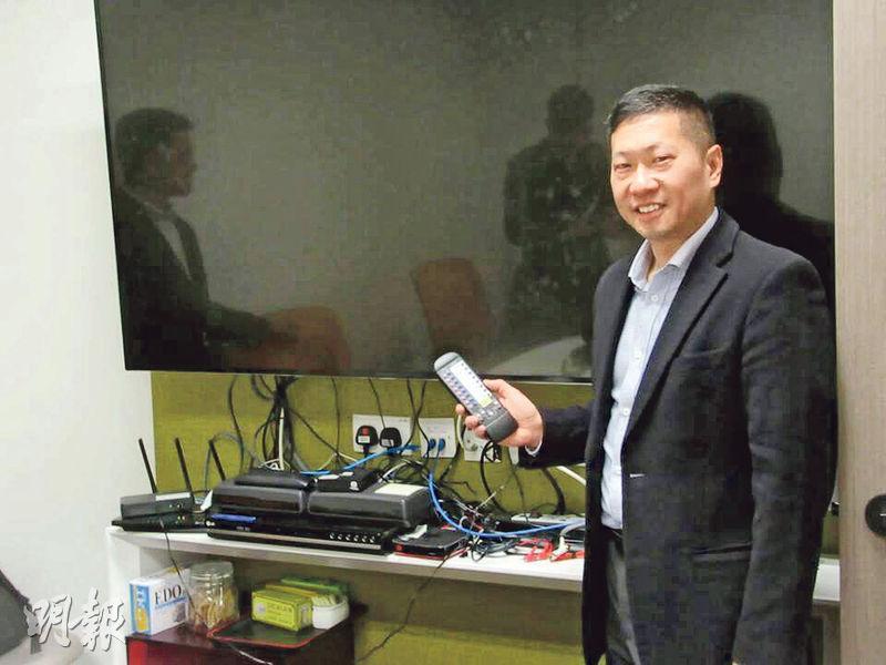 中國廣視索福瑞媒介(CSM)香港區總經理林立昇表示,新調查統計顯示,觀眾仍經電視機收看節目為主,並指統計顯示與原有統計差異不大,表現穩定,就算有個別少許差異也仍在統計學接納範圍。(陳偉燊攝)