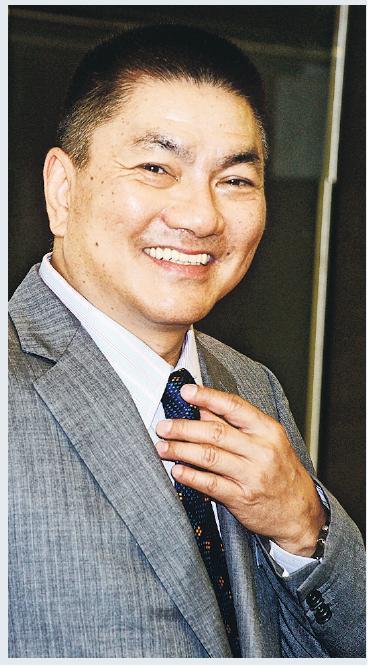 人稱「股壇金手指」的謝清海(圖),旗下惠理基金承租中環中心43樓全層,呎租約70元。(資料圖片)