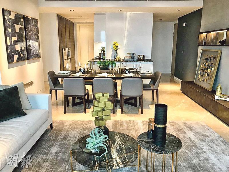 國浩房地產發展、位於新加坡商業區的華利世家(Wallich Residence),發展商早前開放5803室現樓示範單位。(謝穎怡攝)