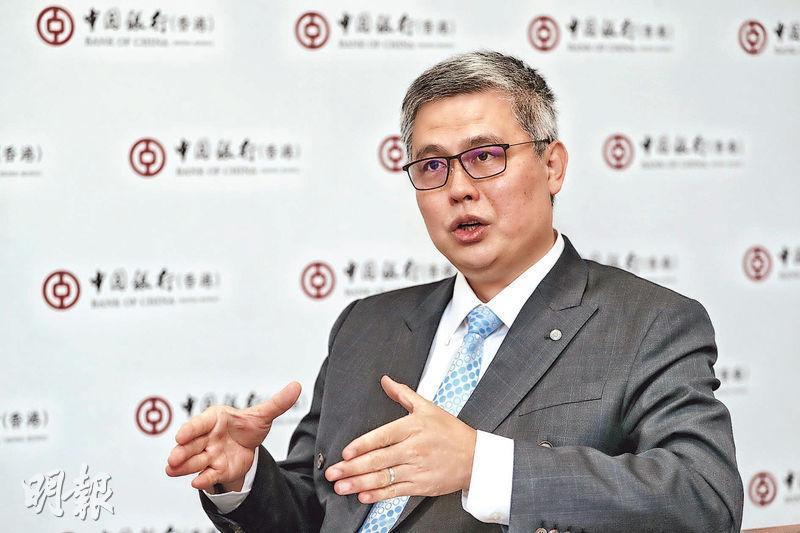中銀香港鄭松岩(圖)認為,香港市民的生活本來已經很方便,在港推動金融科技確實遇到不少難處。該行希望在數月內推出電子錢包,並在今年內把服務擴大至跨境範圍。(李紹昌攝)