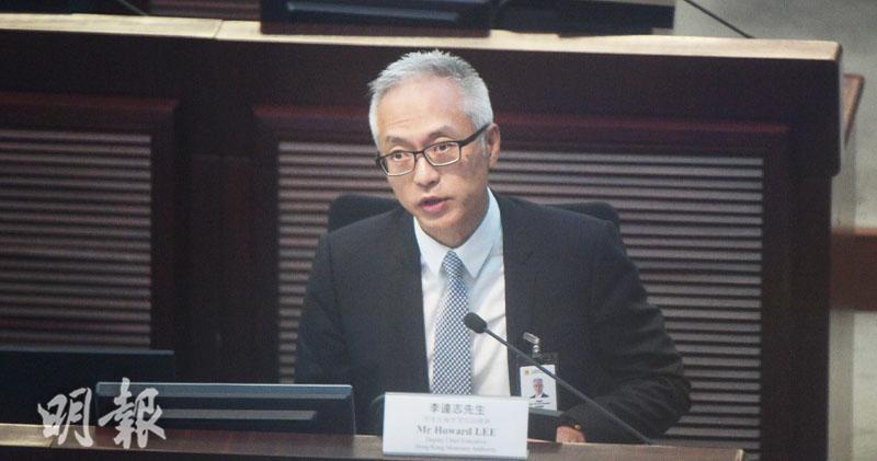金管局副總裁李達志(鄧宗弘攝)
