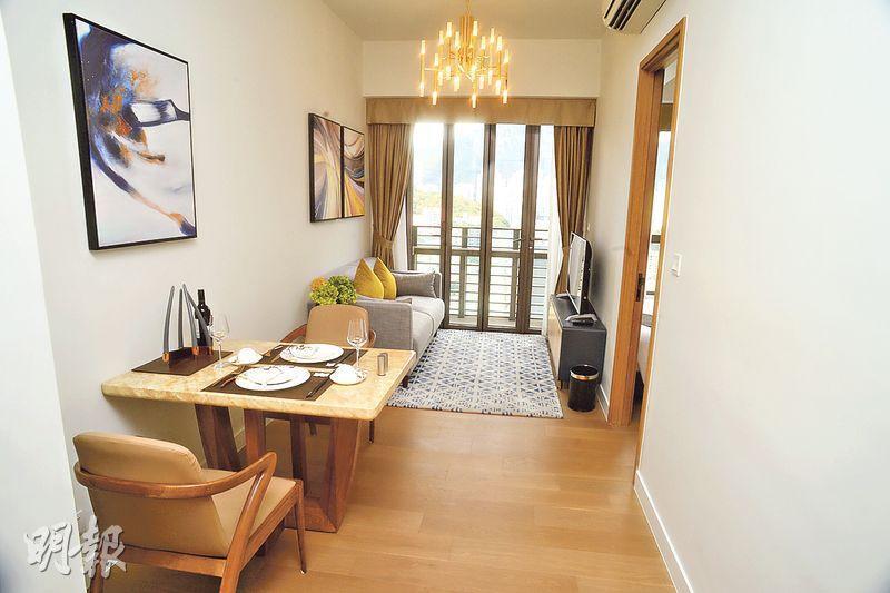 九龍城蔚盈軒提供79個服務式住宅,設1房至套3房間隔,月租由2.67萬至約6萬元。(劉焌陶攝)